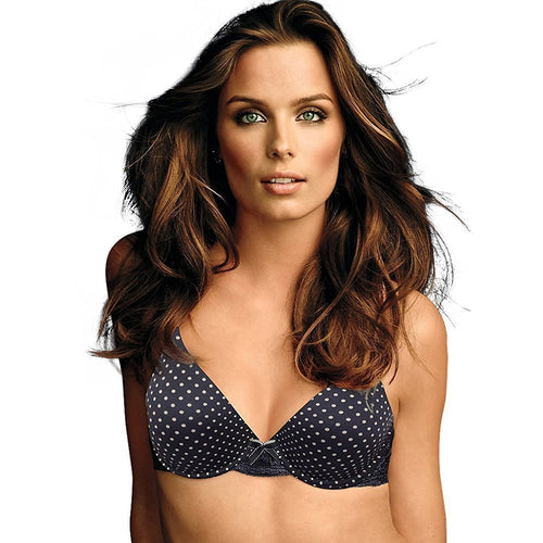 Maidenform Comfort Devotion Embellished Demi Bra 09441_Navy Dot_36DD