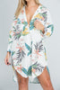 Tropical Button Down Oversized Dress