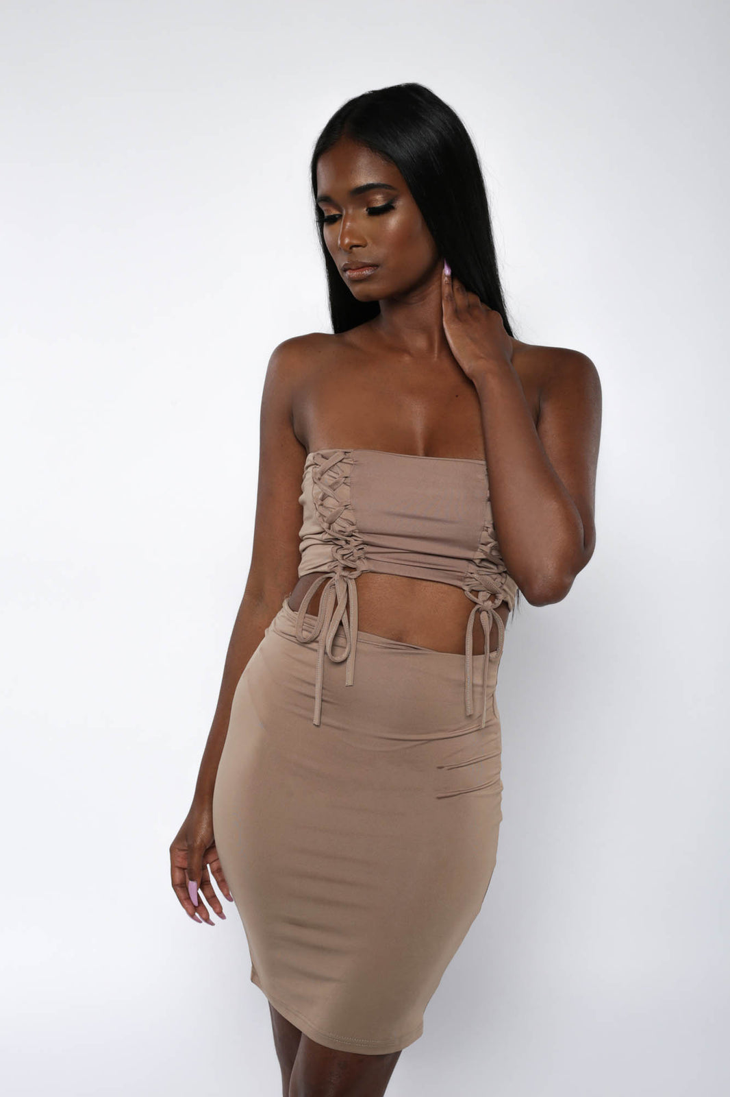 Bodycon Mini Skirt Set