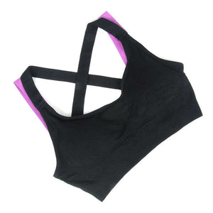 Woman Cross Yoga Sports Bra - TrainNsane,  - fitness