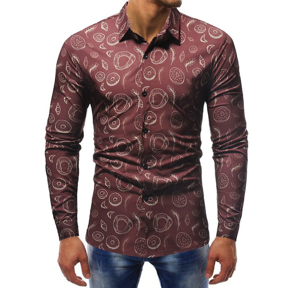 f08acf3df55  Fashion and Apparel  - Best Shop Online Store. Designer Print Shirt Men  Camisas Floral Masculina Manga