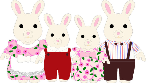 Cream Bunny Family statement necklace - PRE-ORDER