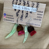 gum leaf earrings - BUSHFIRE FUNDRAISER