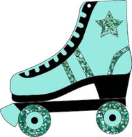 Teal Skate brooch