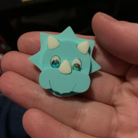 Mary Triceratops mini brooch