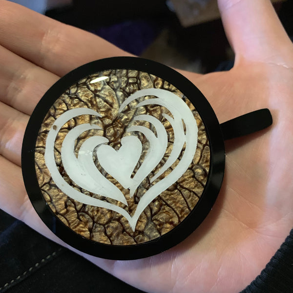 Latte art coffee lovers brooch