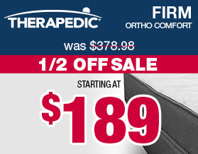 Therapedic Ortho Comfort Firm Mattresses | Veterans Day Sale