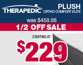 Therapedic Ortho Comfort Plush Mattresses | Veterans Day Sale