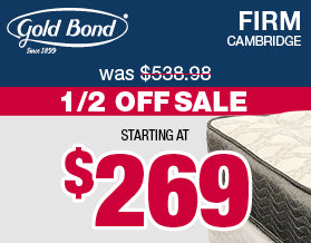 Gold Bond Firm Mattresses | Columbus Day Sale