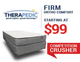 Year End Clearance Sale - Therapedic Firm Mattress