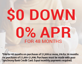 $0 Down 0% APR for 48 Months