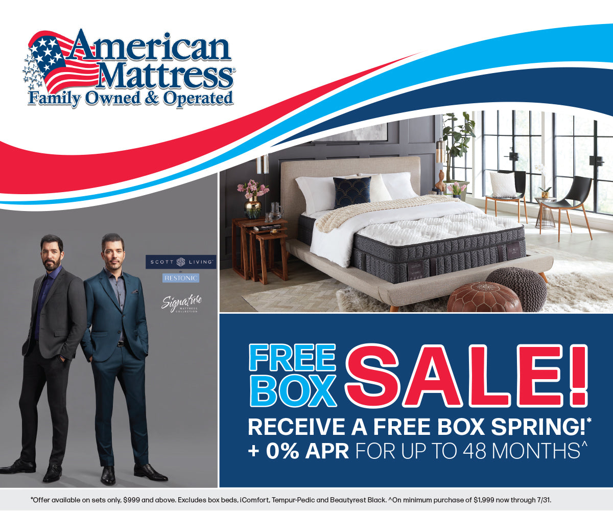 Free Box Sale | American Mattress