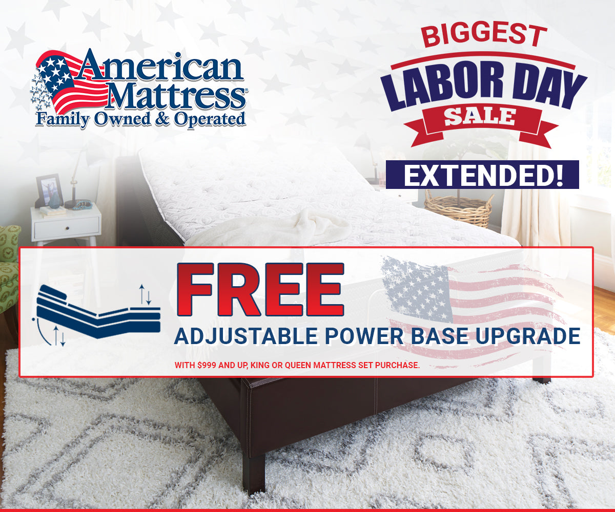 Free Adjustable Base Upgrade with Mattress Purchases | American Mattress