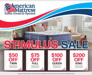 Stimulus Mattress Sale