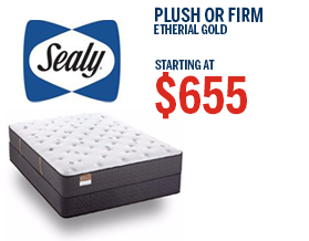 Sealy Etherial Gold Plush or Firm Mattress Sale | American Mattress
