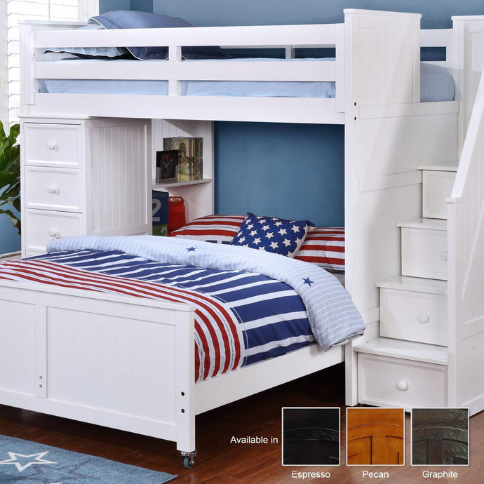 Lakeshore Twin/Full Multi-Function with Stairs Kids Bedroom Sets Dock48Product
