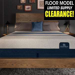 Serta iComfort Blue 300 Firm Mattress Floor Sample Clearance Mattress Serta
