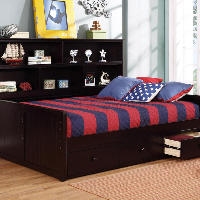 Lakeshore Full Sideways Bed with 3 Drawer Storage-Kids Bedroom Sets-American Mattress