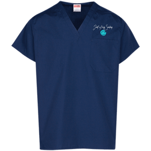 Dr. C JKS Embroidered Scrub Top