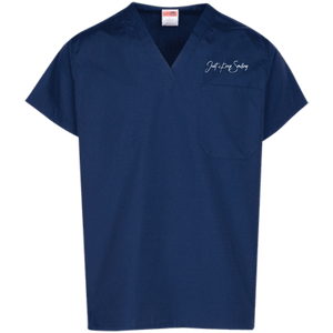 Dr. C JKS No-Logo Embroidery Scrub Top