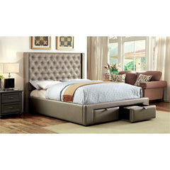Furniture of America Corina Upholstered Bed IDF-7180