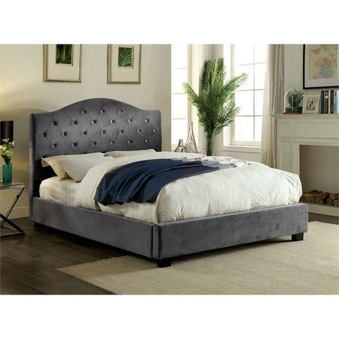 Furniture of America Cressida Platform Bed IDF-7421GY Platform Bed Furniture of America