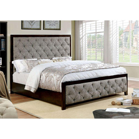 Furniture of America Asterion Tufted Bed IDF-7156 Tufted Bed Furniture of America