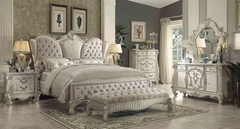 Acme Versailles Upholstered w/ Ivory Bed 21130Q Storage Bed Acme