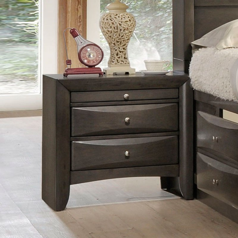 Acme Ireland Gray Oak Nightstand 22704