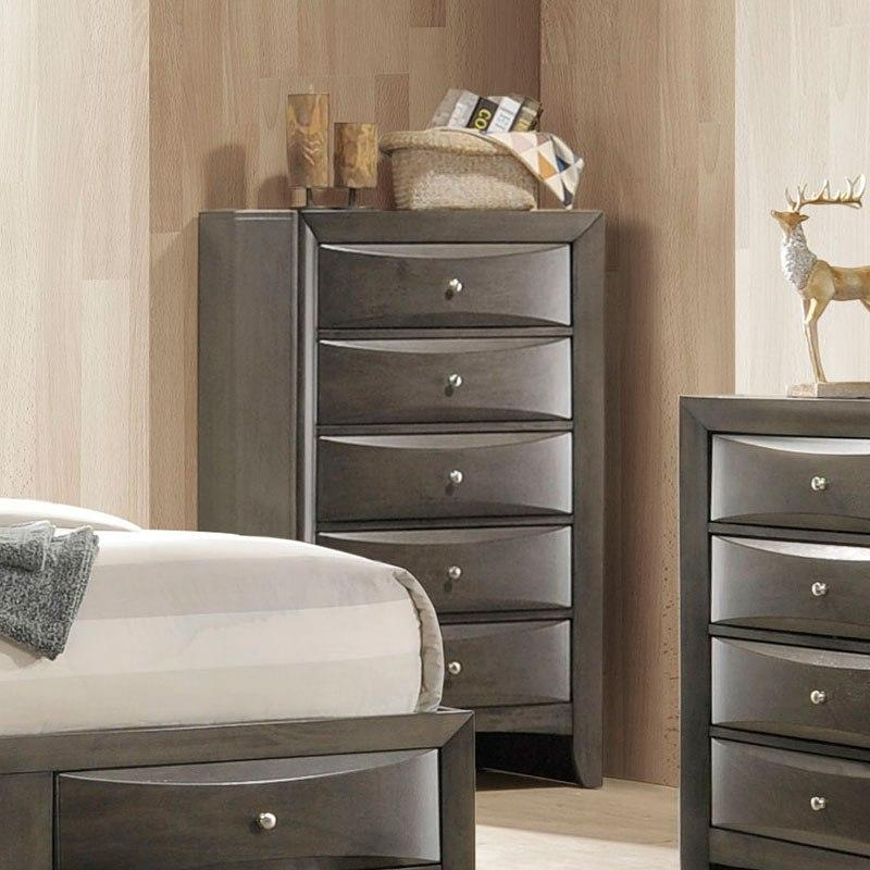 Acme Ireland Gray Oak Chest 22707 Chest Acme