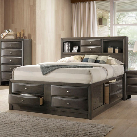 Acme Ireland Youth Full Bookcase Gray Oak Bed 22710F