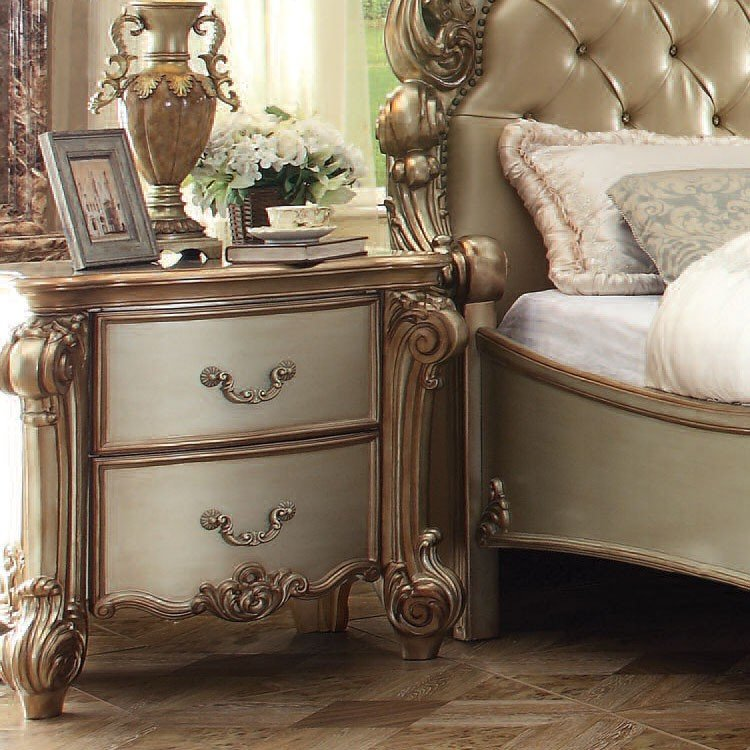 Acme Vendome Gold Patina Nightstand 23003