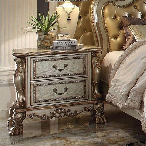 Acme Dresden Gold Patina Nightstand 23163