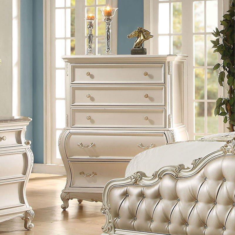 Acme Chantelle Pearl White Chest 23546 Chest Acme