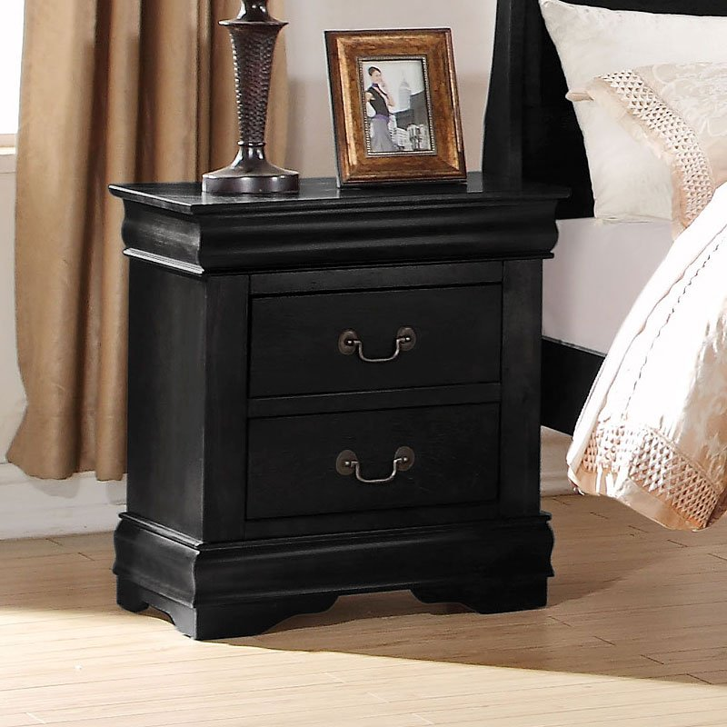 Acme Louis Philippe Black Nightstand 23733