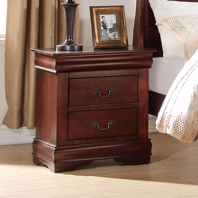 Acme Louis Philippe Cherry Nightstand 23753