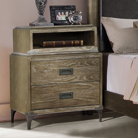 Acme Athouman w/ Wireless Charge Nightstand 23927