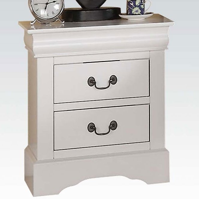 Acme Louis Philippe III White Nightstand 24503