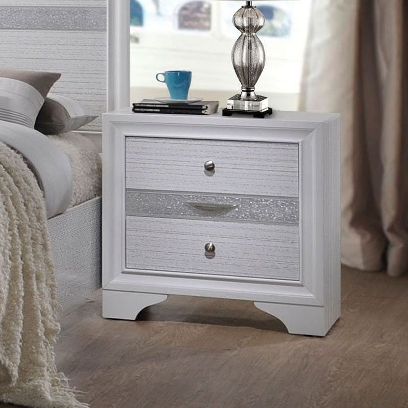 Acme Naima White Nightstand 25773