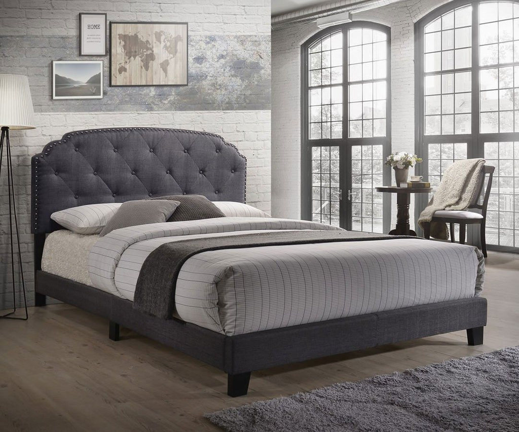 Acme Tradilla Upholstered Bed Queen 26370Q Storage Bed Acme