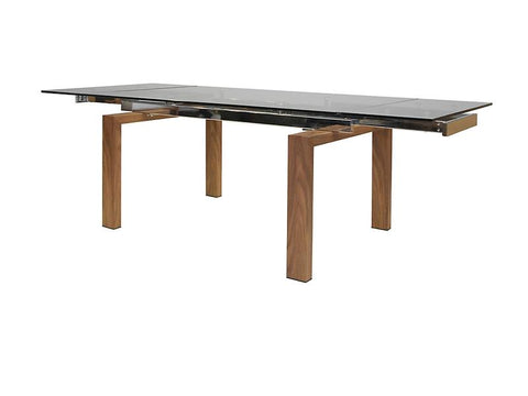 Mobital Torsten Clear Dining Table DTATORSCLEAWALNU Dining Tables Mobital