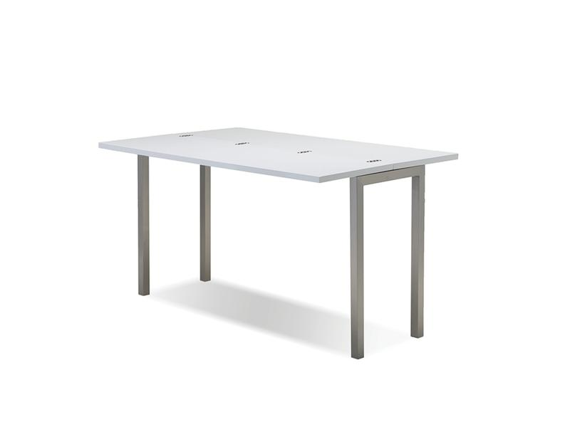 Mobital Alure White Dining Table DTAALURWHITBRUSH Dining Tables Mobital