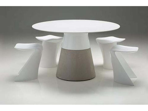 Mobital Maldives White Dining Table DTAMALDWHIT49IN Dining Tables Mobital