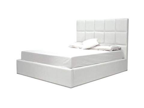 Mobital Glare White King Bed BEDGLARWHITKING Beds Mobital