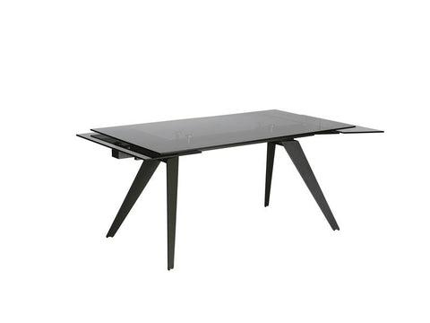 Mobital Noire Black Dining Table DTANOIRSMOKIRON Dining Tables Mobital