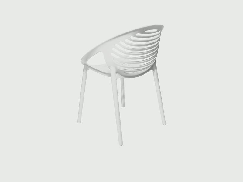 Mobital Gravely White Occasional Chair OARGRAVWHIT Occasional Chairs Mobital