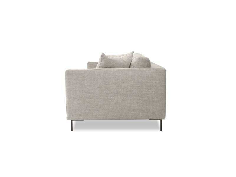 Mobital Tux Light Grey Fabric Sofa SOFTUX9LGRE Sofas Mobital