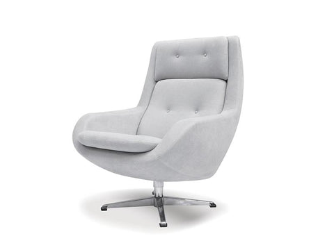 Mobital Lars Light Grey Occasional Chair LCHLARSLGRE Occasional Chairs Mobital