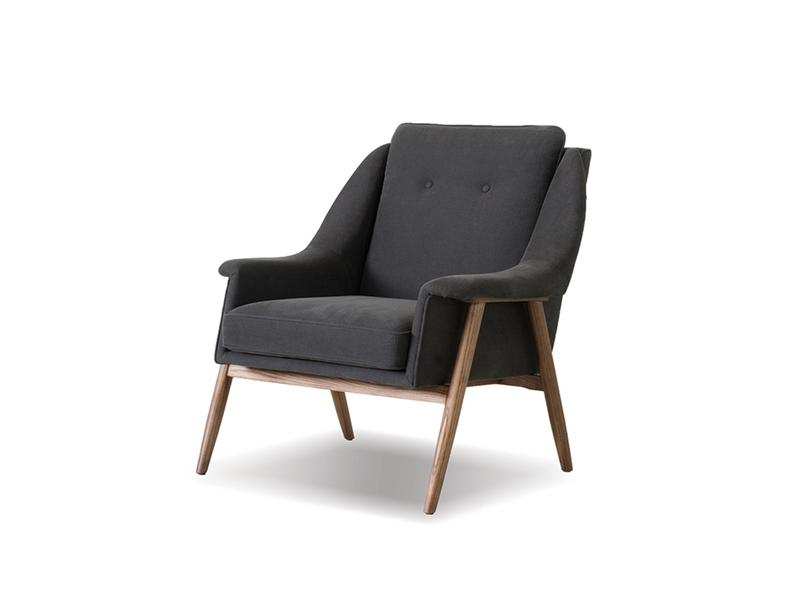 Mobital Parry Dark Grey Occasional Chair LCHPARRDGREWALNU Occasional Chairs Mobital