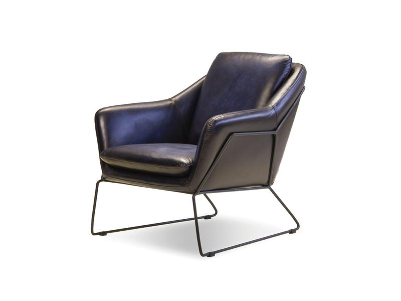 Mobital Jasper Midnight Blue Occasional Chair LCHJASPMIDBBLAC2 Occasional Chairs Mobital